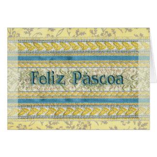 Felz pascoa no português cartão comemorativo
