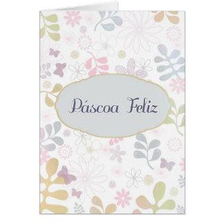 Felz pascoa no português, Páscoa Feliz, Cartão Comemorativo
