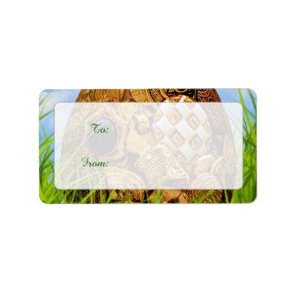 Felz pascoa - ovo da páscoa - botões metálicos etiqueta de endereço