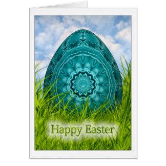 Felz pascoa - ovo da páscoa com a mandala cartão de nota