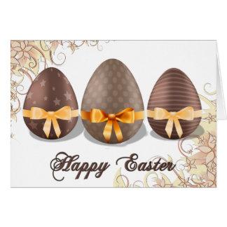 Felz pascoa, ovos da páscoa de Choco Cartão Comemorativo