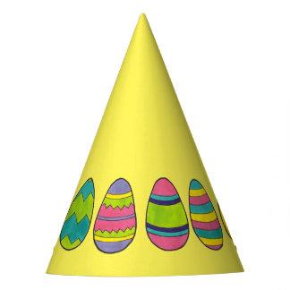 Felz pascoa pintado colorido da caça do ovo dos chapéu de festa