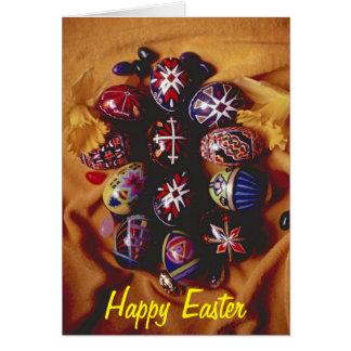 Felz pascoa que cumprimenta ovos da páscoa de Card Cartão Comemorativo