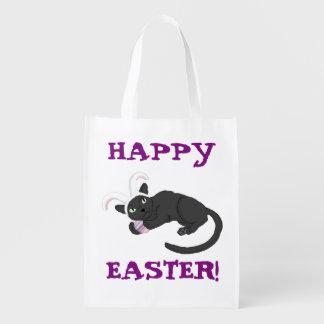 Felz pascoa! saco do coelho da Gato-baga Sacola Ecológica
