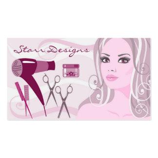 Fêmea do cabeleireiro do salão de beleza & cartão cartão de visita