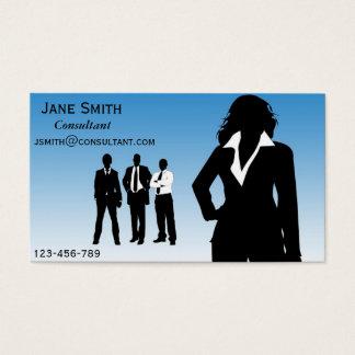 Fêmea do consultor empresarial cartão de visitas