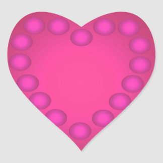 Feminino bonito do divertimento cor-de-rosa adesivos de corações