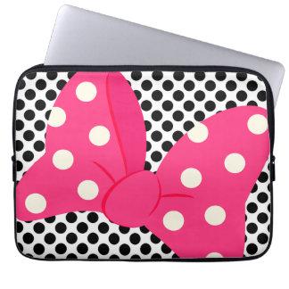 Feminino cor-de-rosa bonito sleeve para notebook