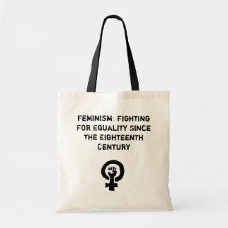 Feminismo: Luta pelo saco da igualdade Bolsa Tote