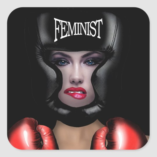 Feminista Adesivo Quadrado