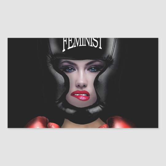 Feminista Adesivo Retangular