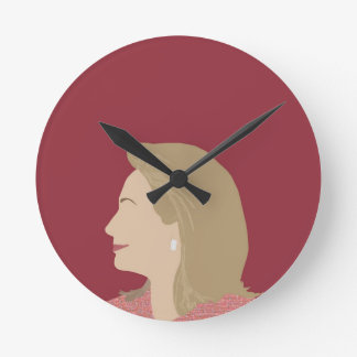 Feminista de Hillary Clinton Relógio Redondo