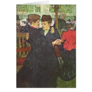 Femmes de Deux dansant - cartão da arte