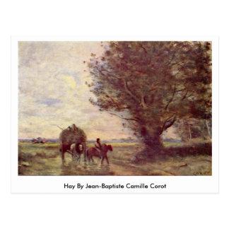 Feno por Jean-Baptiste Camilo Corot Cartão Postal