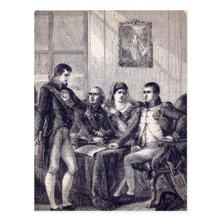 Ferdinand da espanha que renuncia sua coroa cartão postal