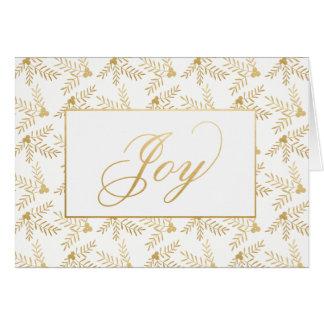 Feriado alegre cartão dobrado