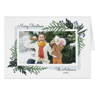 Feriado bonito - cartão da foto do Natal