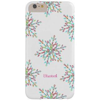 Feriado colorido customizável do floco de neve capa barely there para iPhone 6 plus