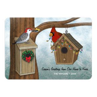 Feriado da casa do pássaro convite 12.7 x 17.78cm