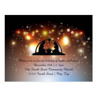 Feriado da natividade das luzes - cartão do Natal