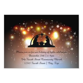 Feriado da natividade das luzes - convite do Natal