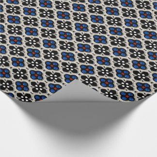 Feriado de prata e azul Bling Papel De Presente