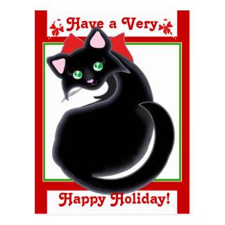Feriado do gatinho de Kiara Toon! Cartão