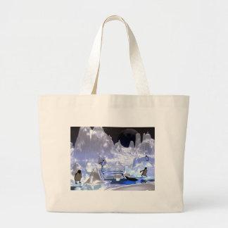 feriado do pinguim da arte 3d sacola tote jumbo