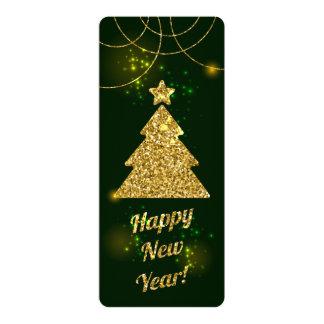 Feriado do verde do Natal do feliz ano novo Convite 10.16 X 23.49cm
