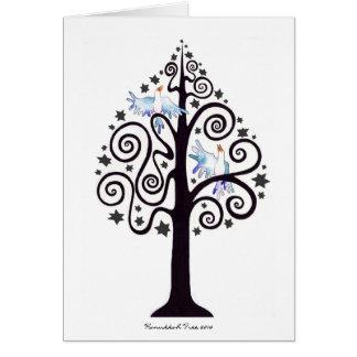 Feriado feliz 2010 do cartão da árvore de Hanukkah