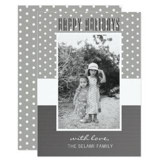 Feriado feliz do cartão com fotos   do feriado -