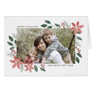 Feriado floral - cartão da foto do Natal