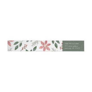 Feriado floral - etiqueta de endereço do remetente
