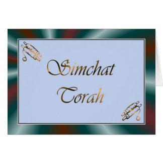 Feriado judaico Chag Sameach de Simchat Torah Cartão