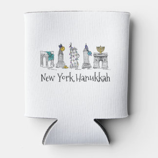 Feriado judaico Chanukah de Hanukkah NYC da Nova Porta-lata