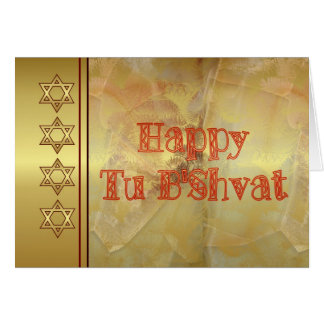 Feriado judaico do bishvat feliz da Turquia Cartão