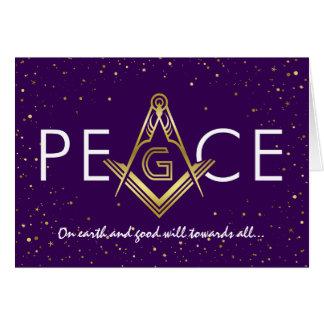 Feriado maçónico do Freemason dos cartões de Natal
