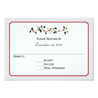 Feriado que Wedding o cartão da resposta ou da Convite 8.89 X 12.7cm