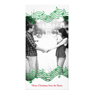 Feriado verde da foto da música do Natal Cartão Com Foto