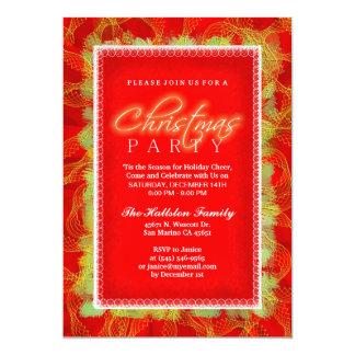 Feriado vermelho & branco do convite da festa de