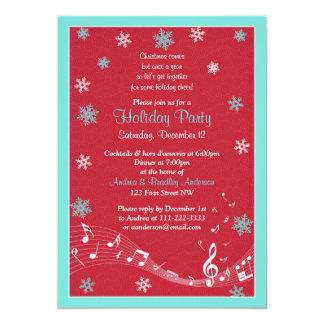 Feriado vermelho do White Christmas de turquesa do Convite