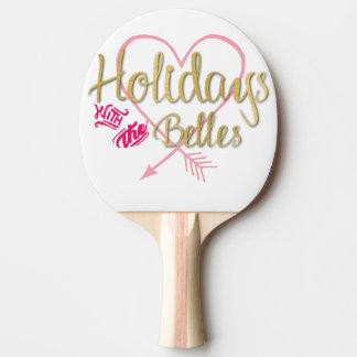 Feriados com a pá de Pong do sibilo dos Belles Raquete Para Ping Pong