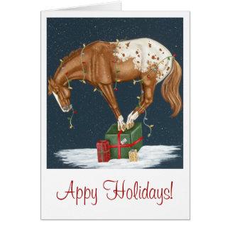 Feriados de Appy! Cartão de Natal do Appaloosa