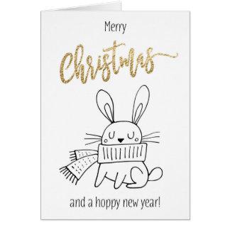 Feriados Hoppy engraçados do cartão de Natal do