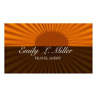 Férias corajosas do agente de viagens da ascensão cartão de visita