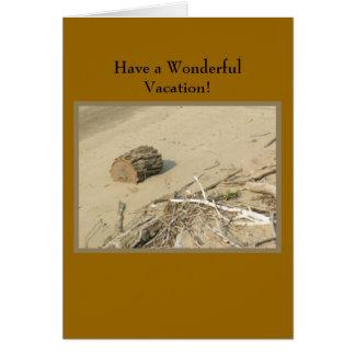Férias da praia cartão comemorativo