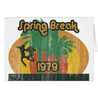 Férias da primavera 1979 do vintage cartão comemorativo