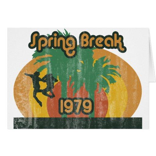 Férias da primavera 1979 do vintage cartao