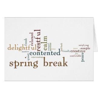 Férias da primavera (vazio para dentro) cartão comemorativo