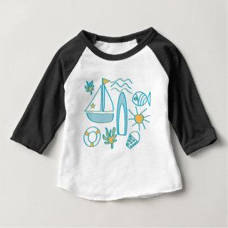 Férias de verão camiseta para bebê